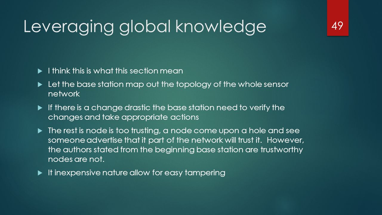 Leveraging global knowledge