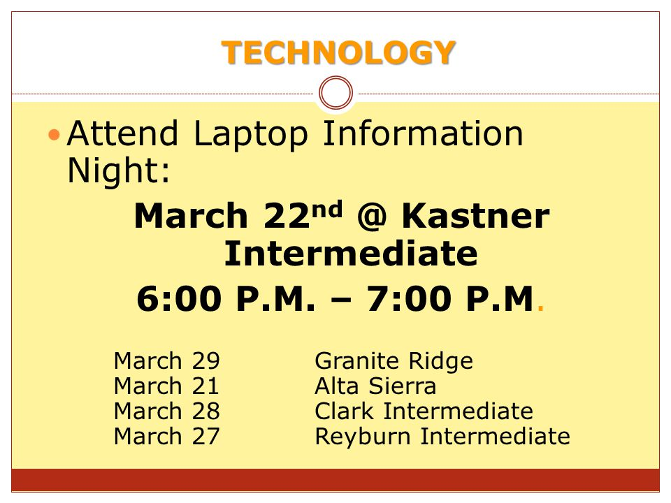 March 22nd @ Kastner Intermediate