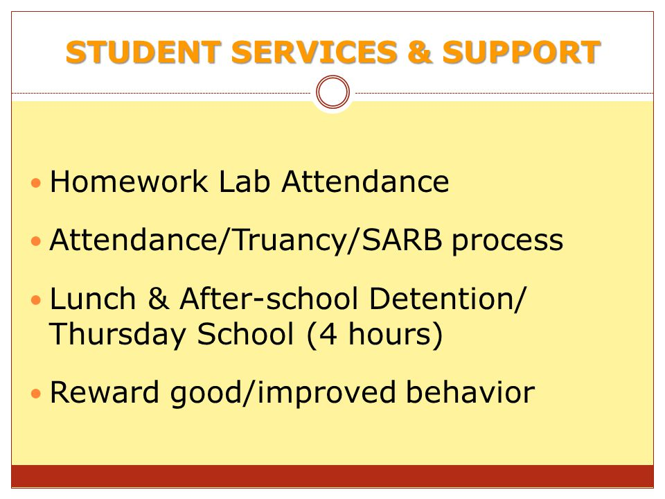 STUDENT SERVICES & SUPPORT