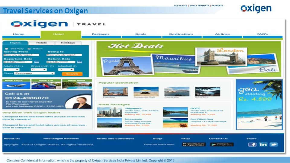 Travel Services on Oxigen