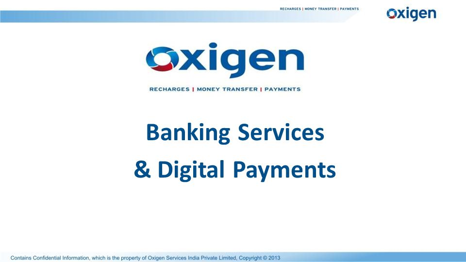 Banking Services & Digital Payments