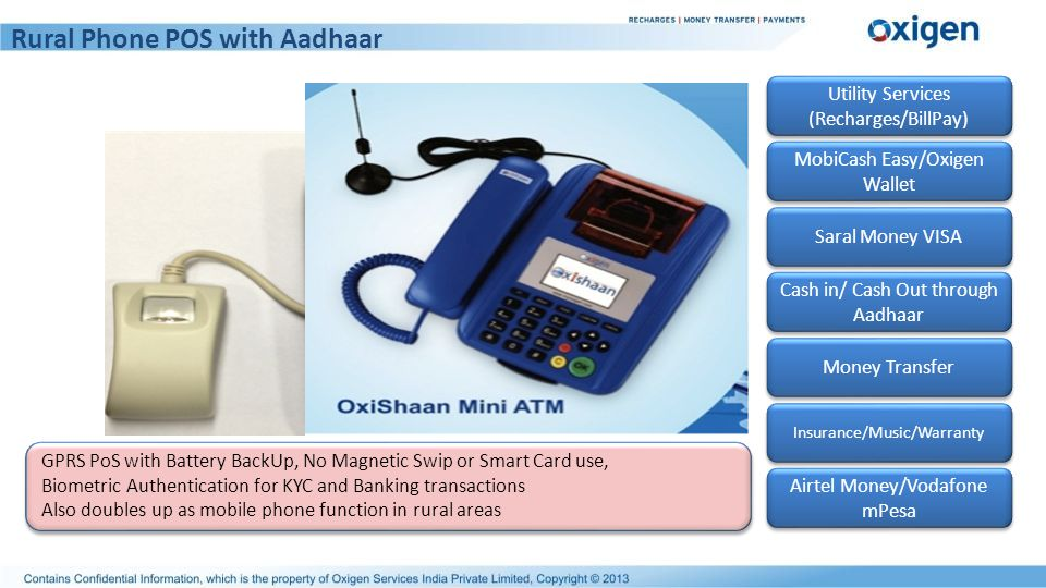 Rural Phone POS with Aadhaar