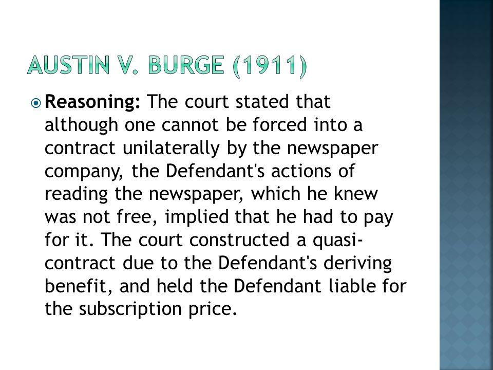Austin v. Burge (1911)