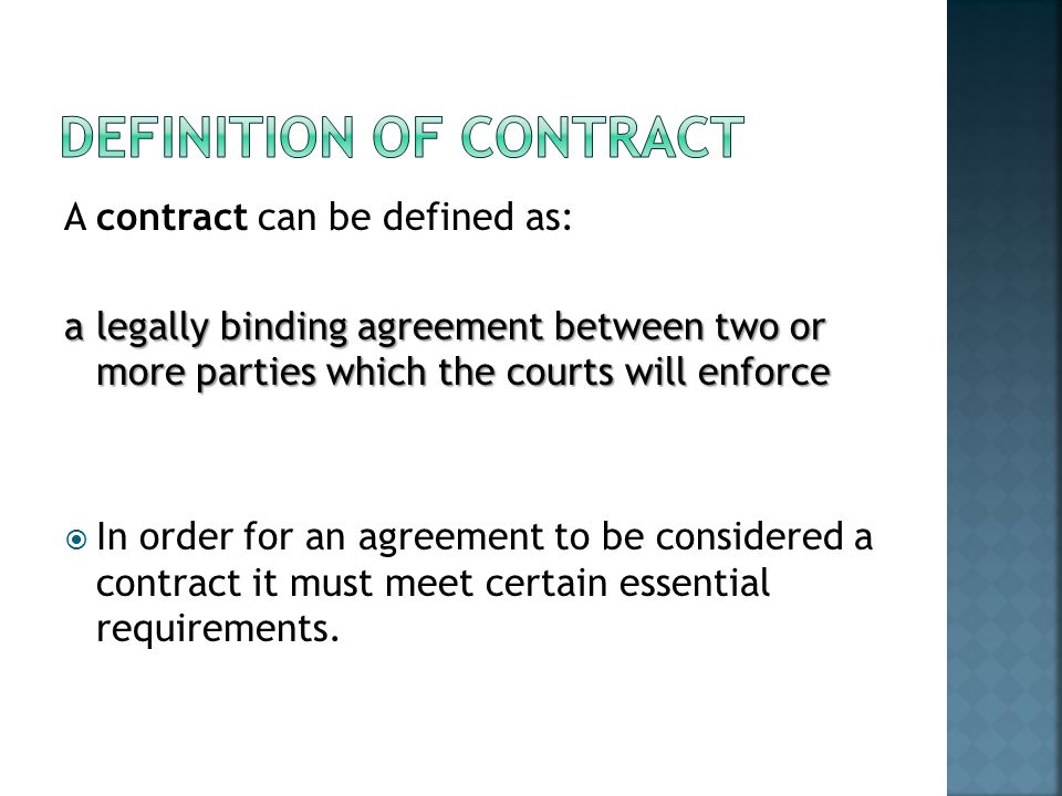 Definition of contract