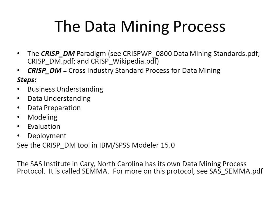 The Data Mining Process