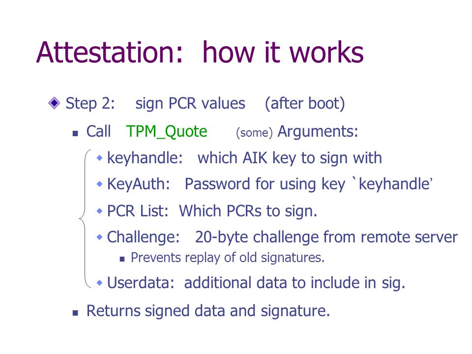 Attestation: how it works