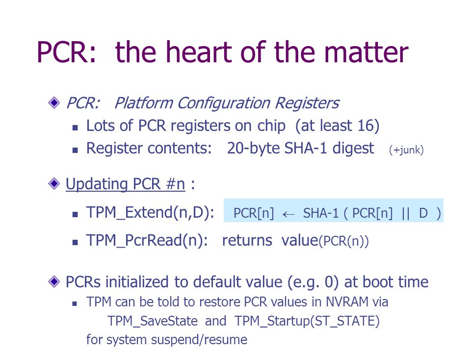 PCR: the heart of the matter