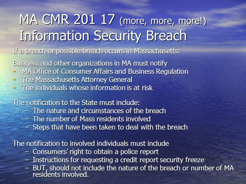 Information Security Breach