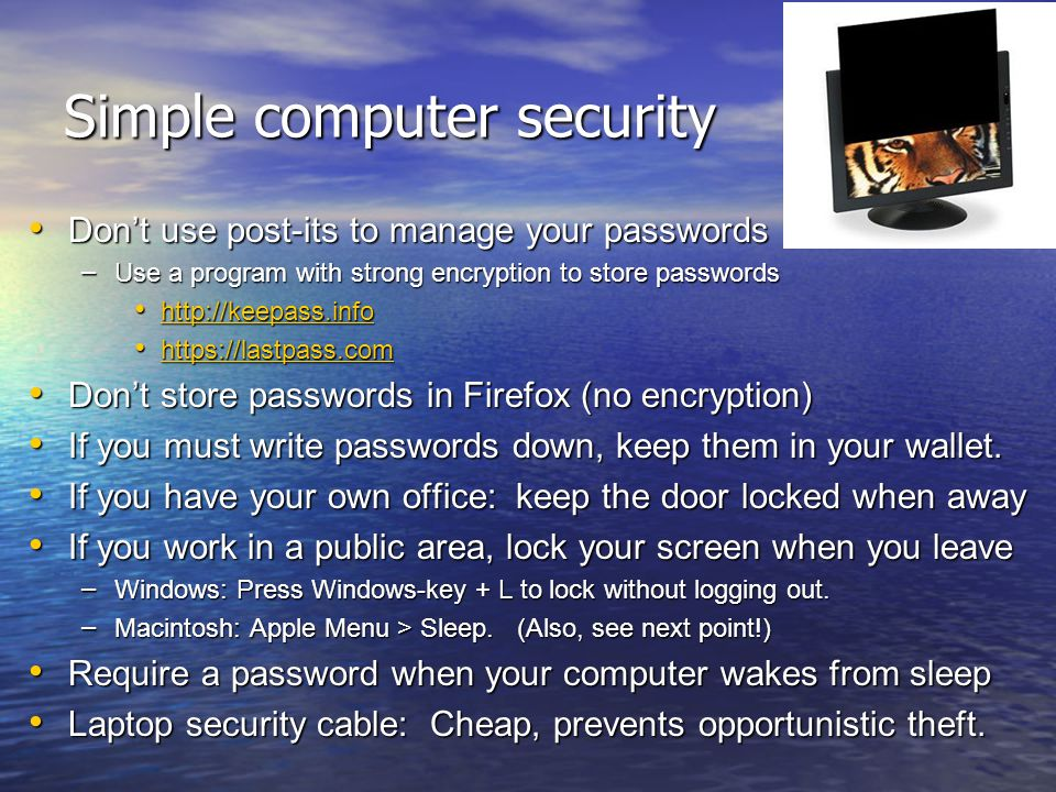 Simple computer security