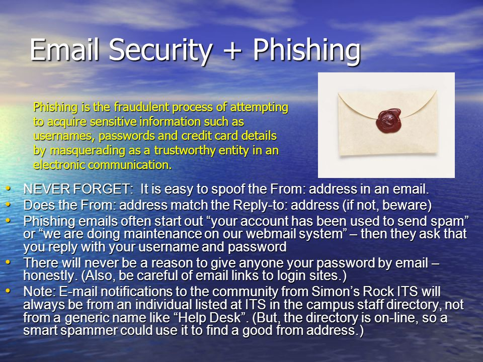 Email Security + Phishing