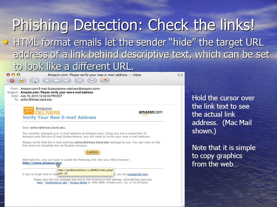 Phishing Detection: Check the links!