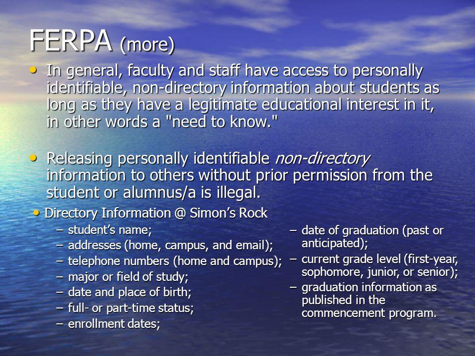 FERPA (more)