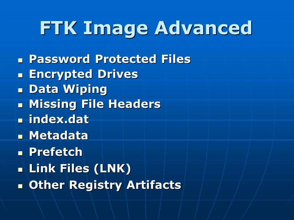 FTK Image Advanced Password Protected Files Encrypted Drives