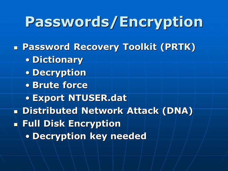 Passwords/Encryption