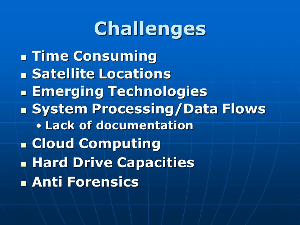 Challenges Time Consuming Satellite Locations Emerging Technologies