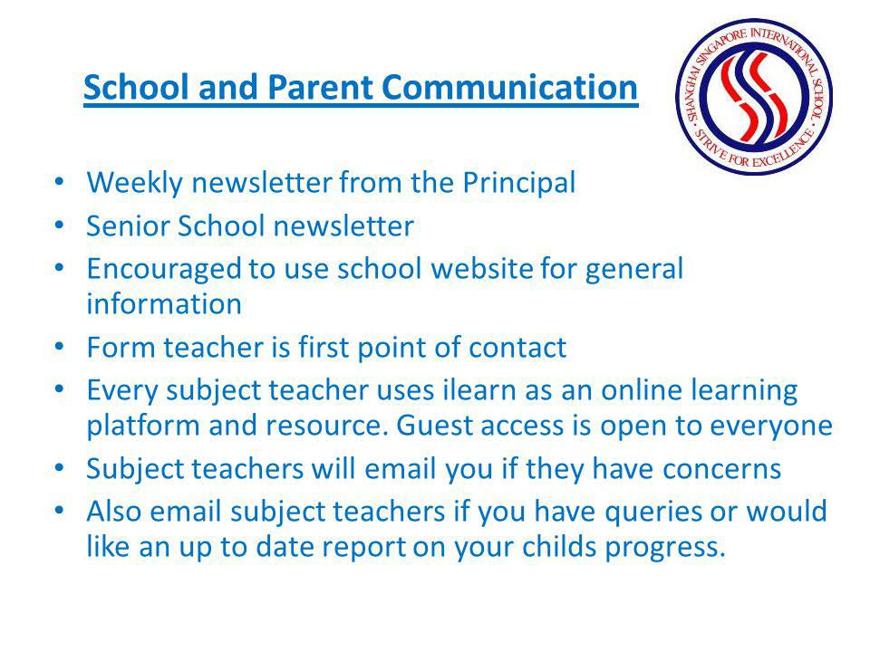 School and Parent Communication