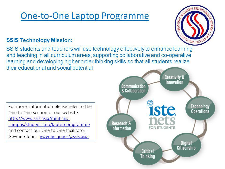 One-to-One Laptop Programme