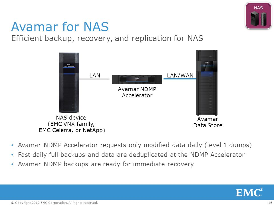 NAS device (EMC VNX family,