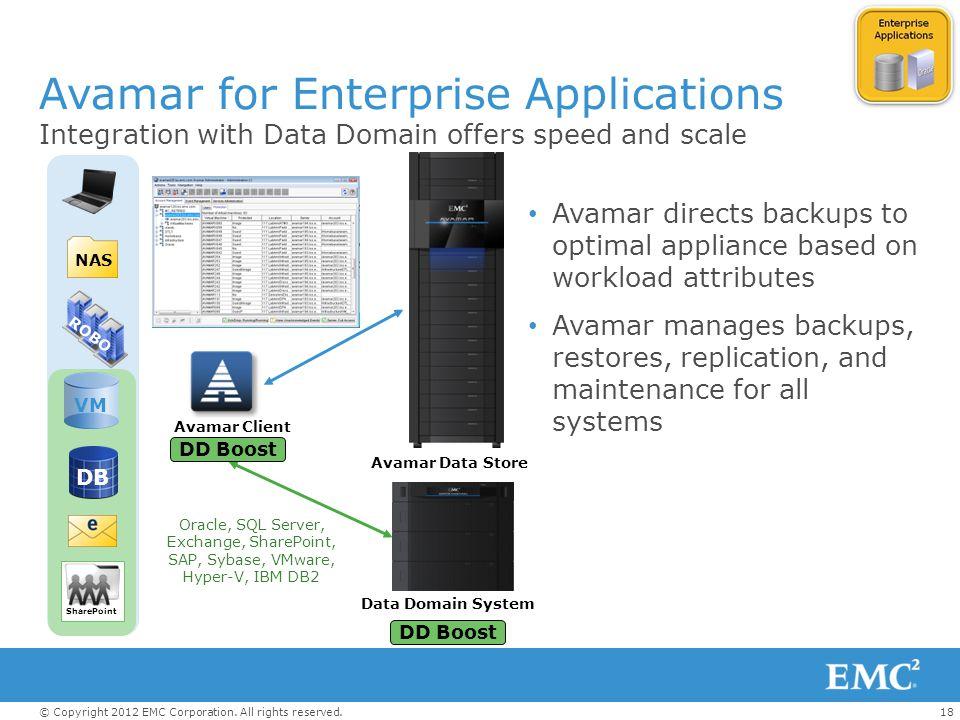 Avamar for Enterprise Applications