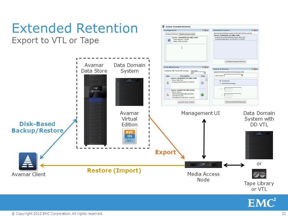 Disk-Based Backup/Restore