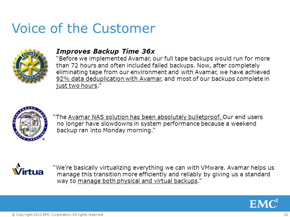 Voice of the Customer Improves Backup Time 36x