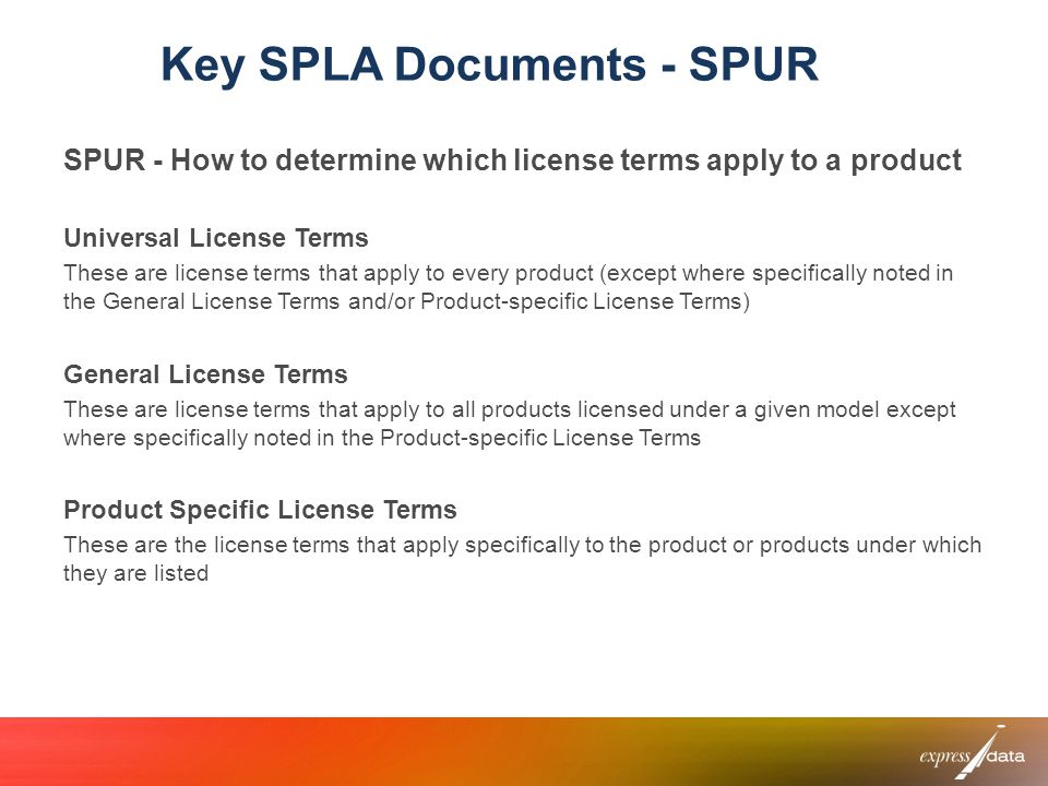Key SPLA Documents - SPUR