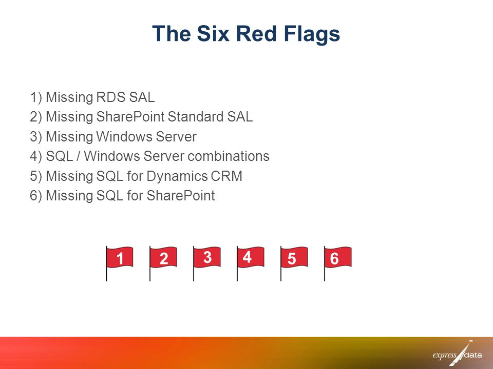 The Six Red Flags