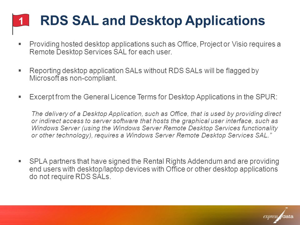 RDS SAL and Desktop Applications