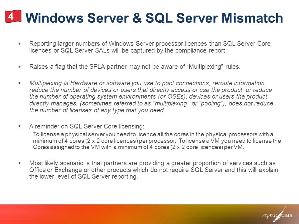 Windows Server & SQL Server Mismatch