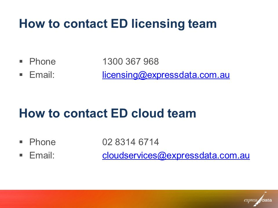 How to contact ED cloud team