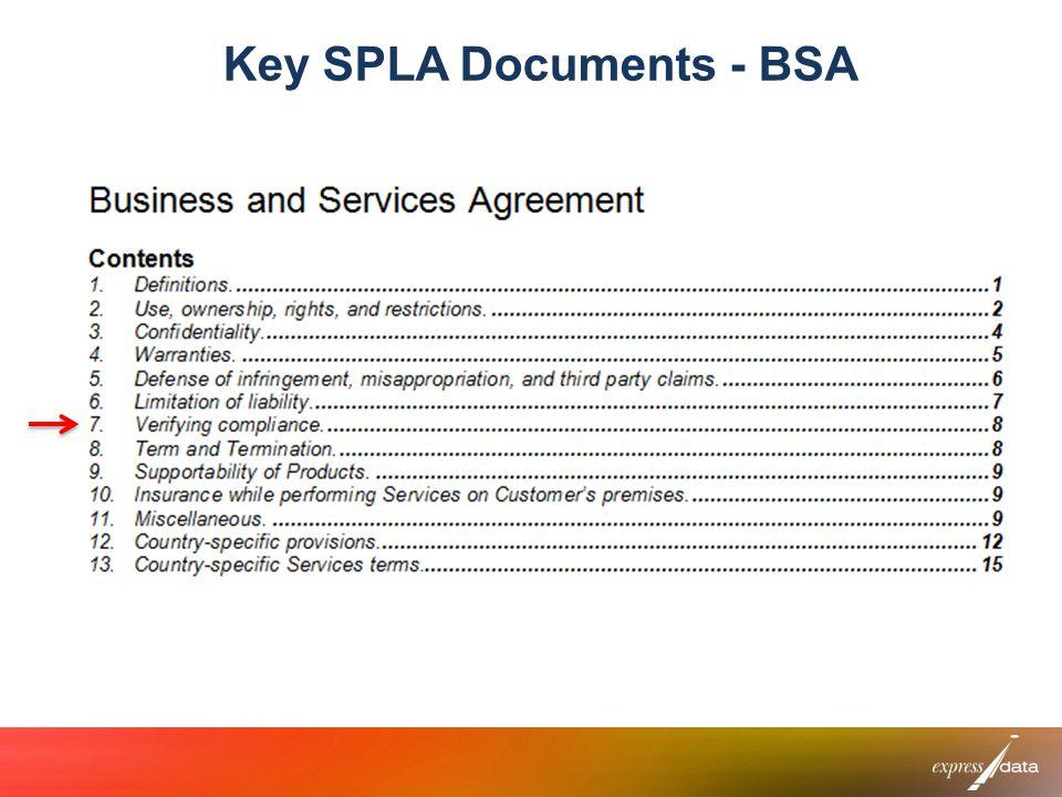 Key SPLA Documents - BSA