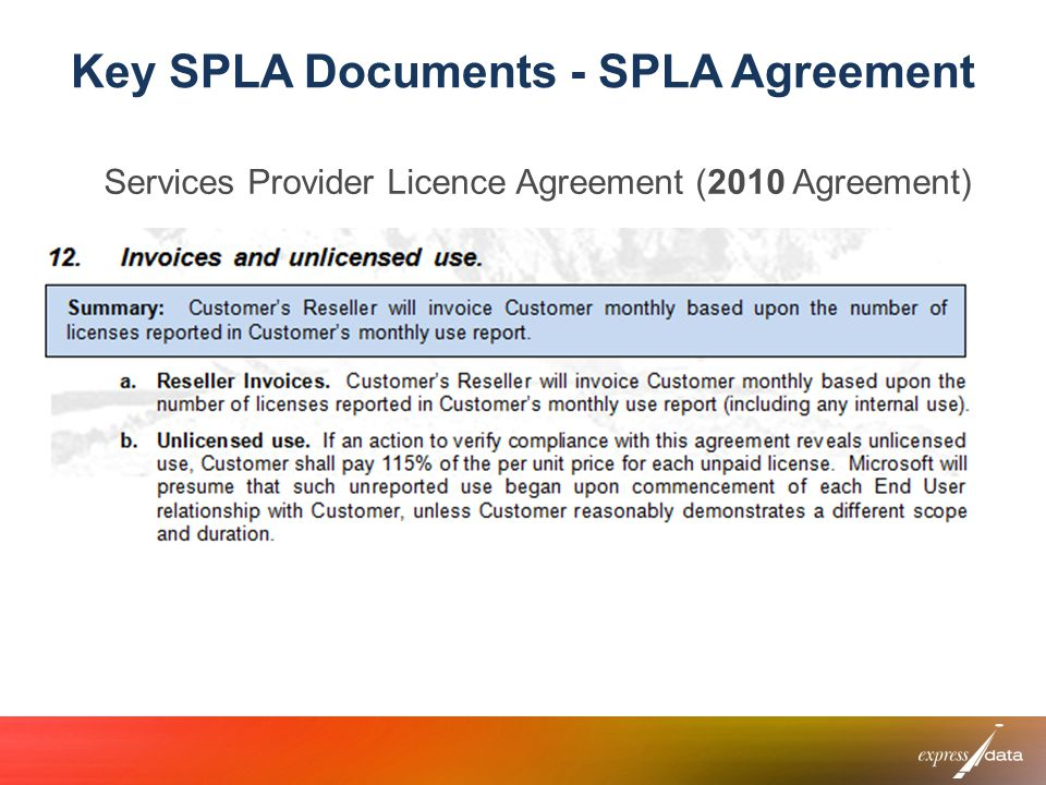 Key SPLA Documents - SPLA Agreement