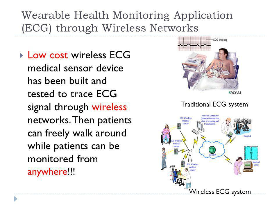 Wearable Health Monitoring Application (ECG) through Wireless Networks
