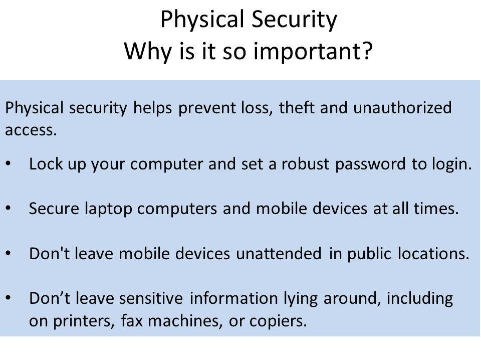 Physical Security Why is it so important
