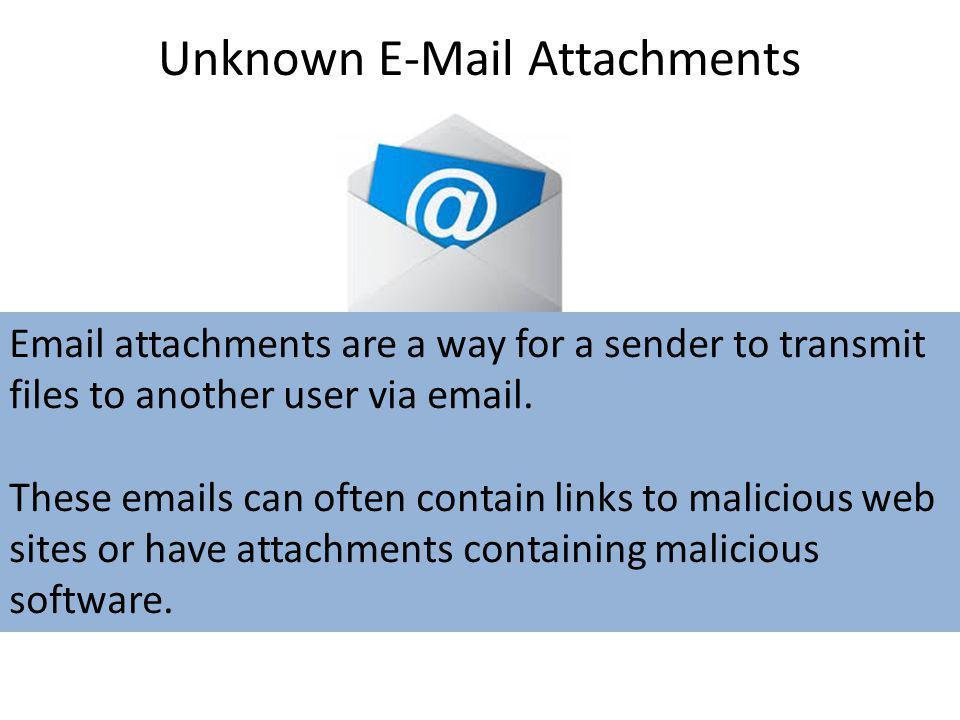 Unknown E-Mail Attachments