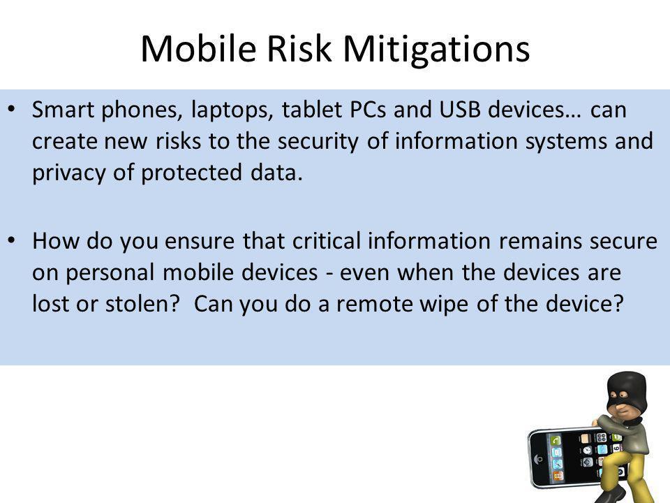 Mobile Risk Mitigations