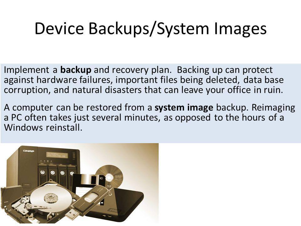 Device Backups/System Images