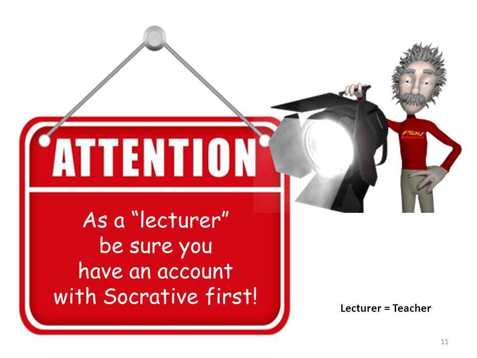 Lecturer = Teacher