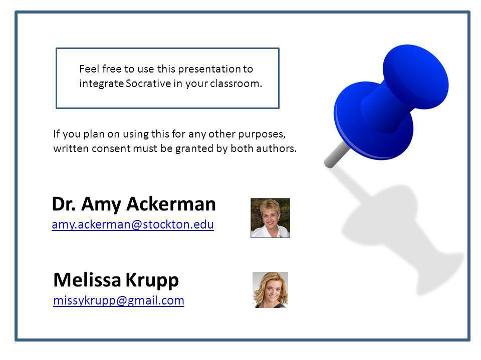 Dr. Amy Ackerman Melissa Krupp amy.ackerman@stockton.edu