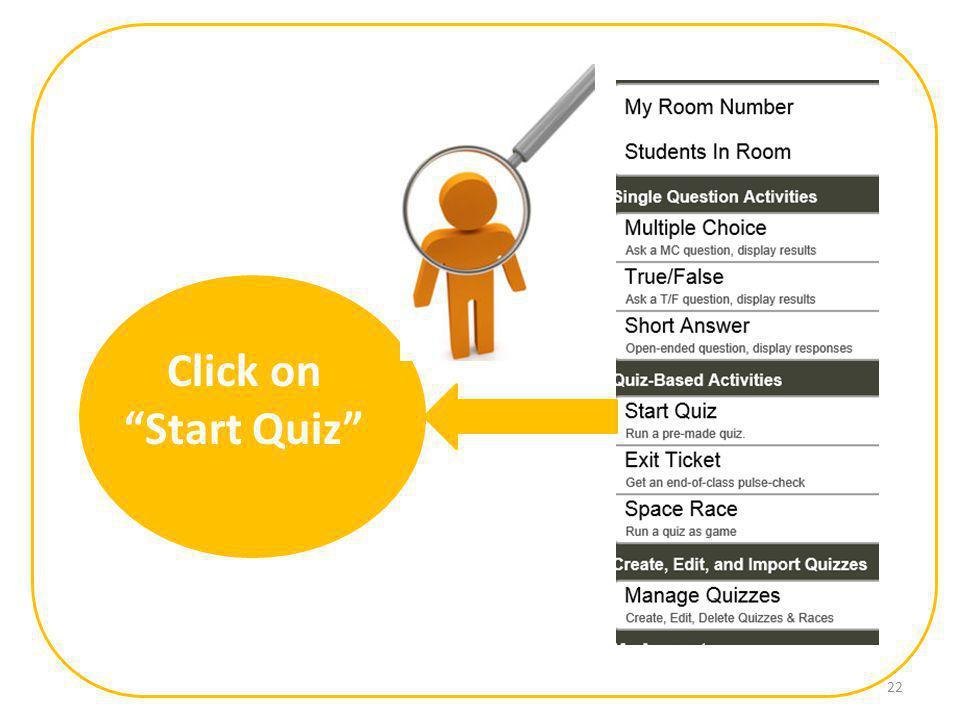 Click on Start Quiz