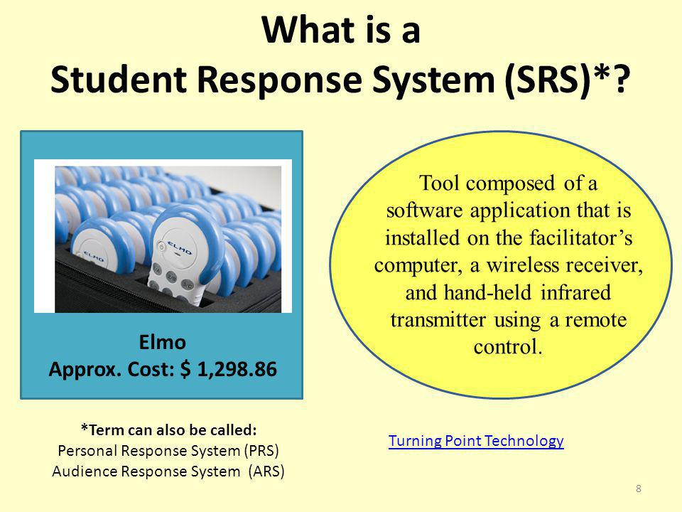 Student Response System (SRS)* *Term can also be called: