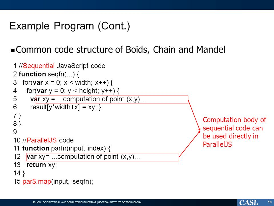 Example Program (Cont.)