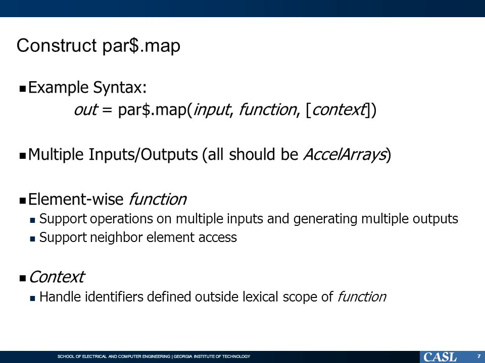 Construct par$.map Example Syntax: