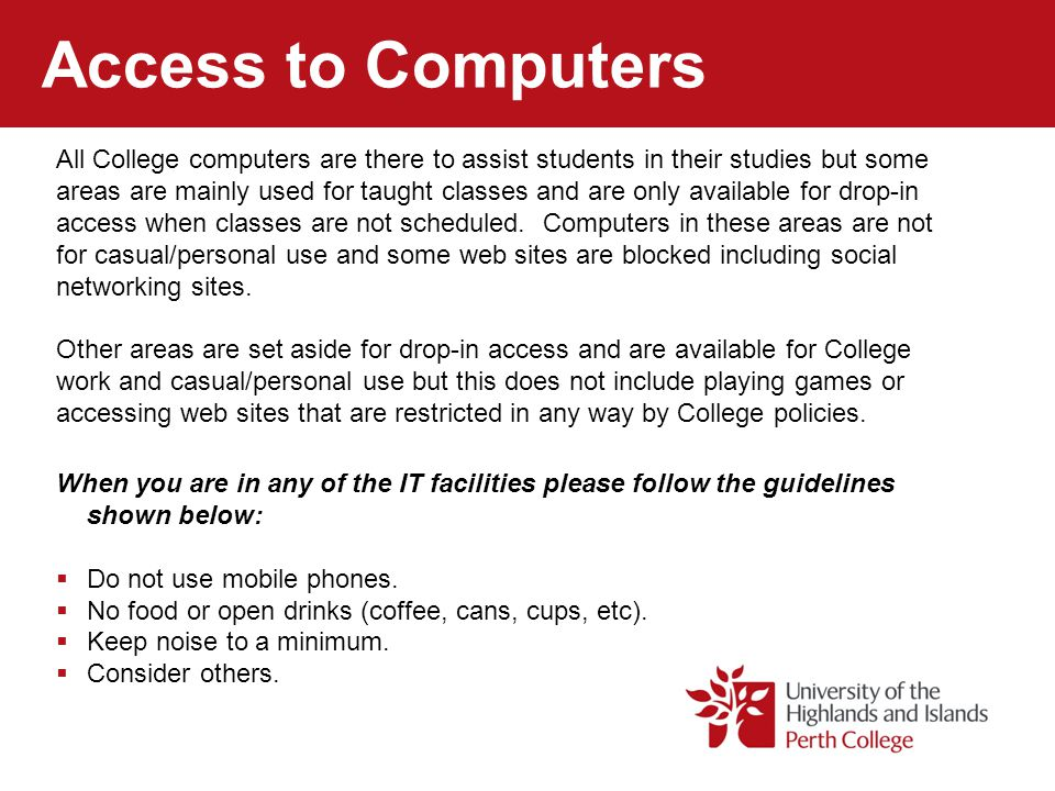 Access to Computers