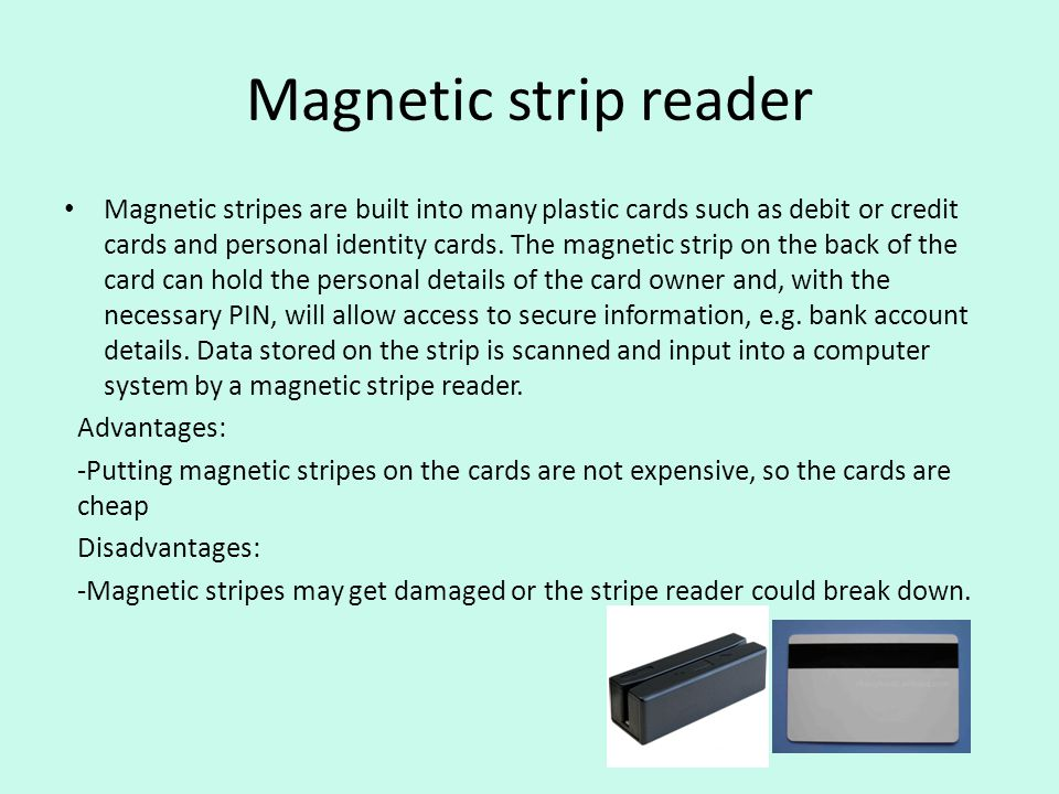 Magnetic strip reader