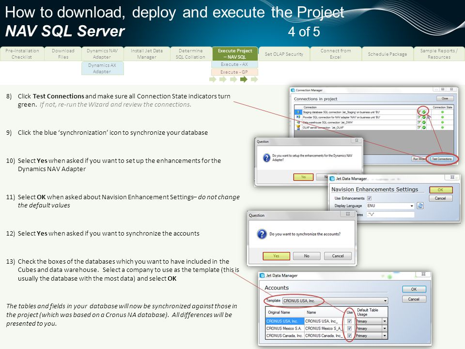 How to download, deploy and execute the Project NAV SQL Server 4 of 5