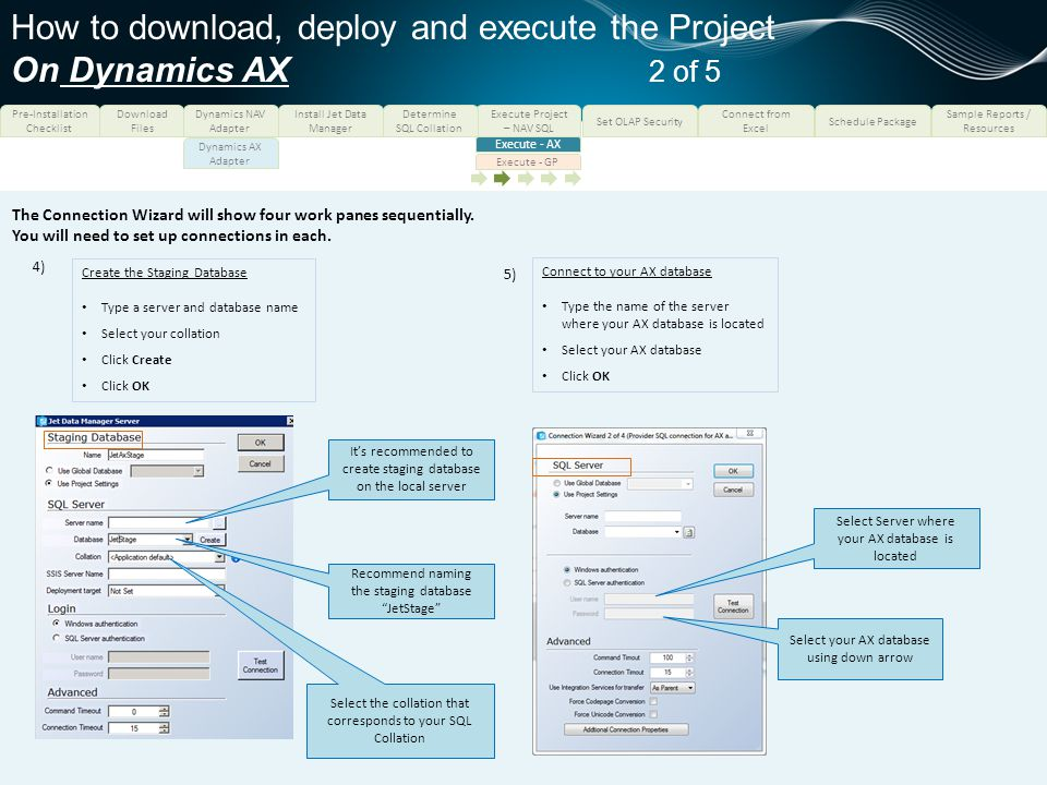 How to download, deploy and execute the Project On Dynamics AX 2 of 5