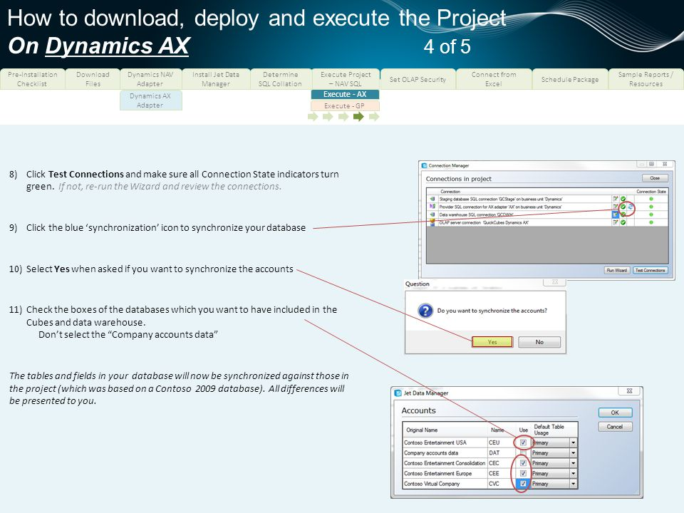 How to download, deploy and execute the Project On Dynamics AX 4 of 5