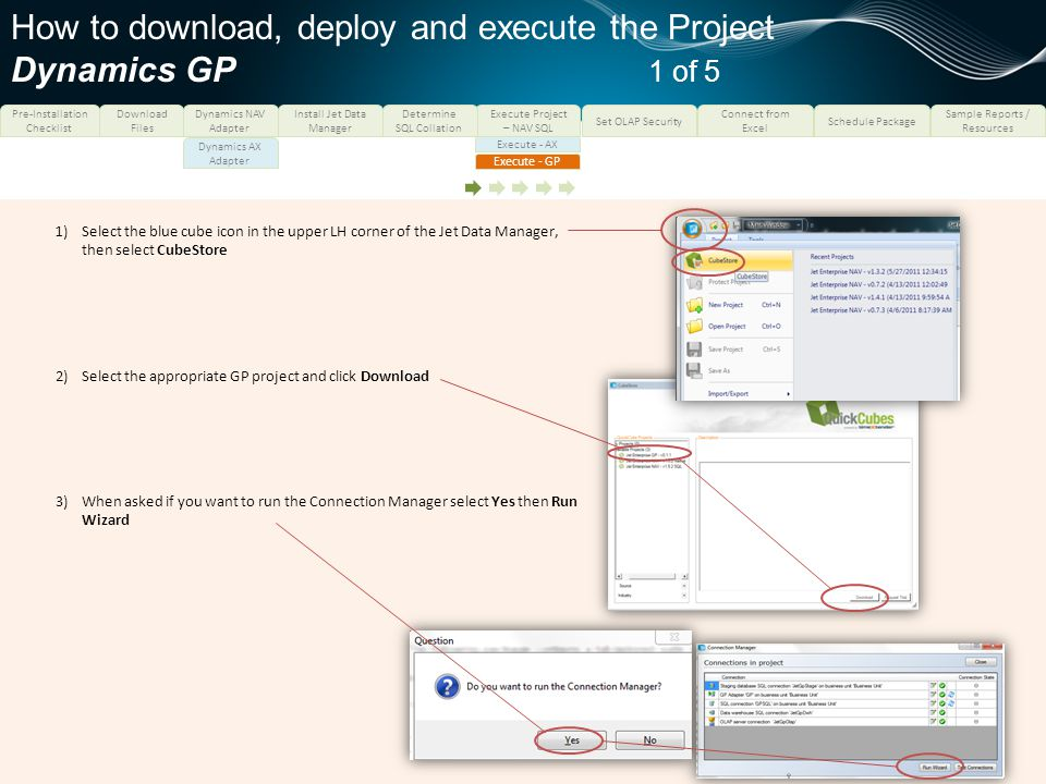 How to download, deploy and execute the Project Dynamics GP 1 of 5