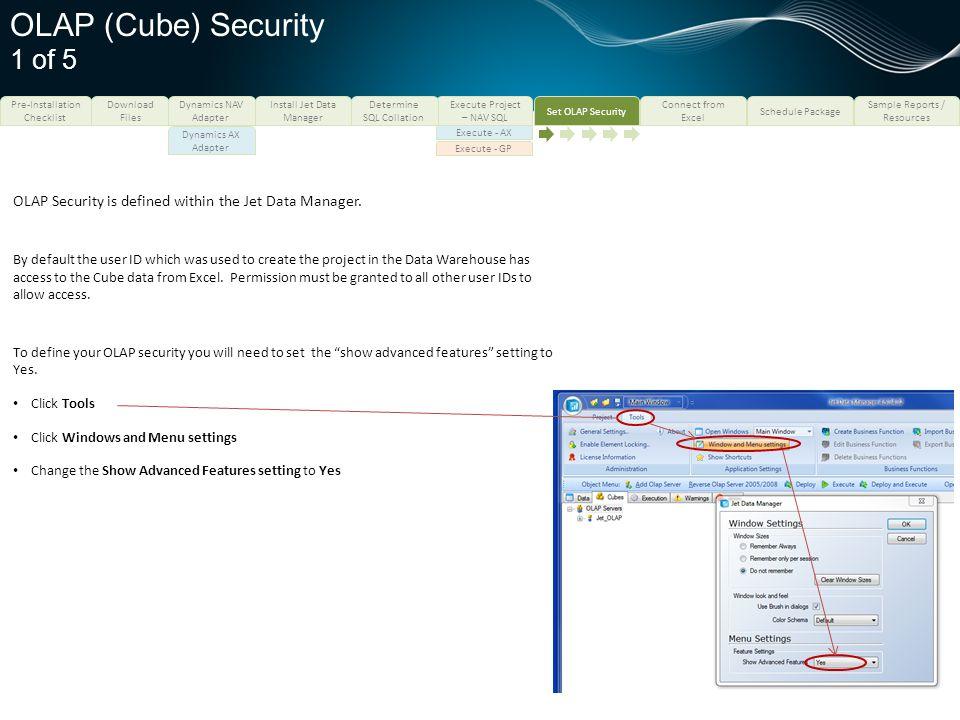 OLAP (Cube) Security 1 of 5